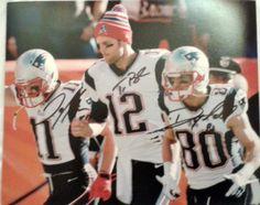Julian Edelman, Danny Amendola & Tom Brady Signed 8x10 Photo