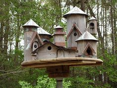 Multi peaked bird house