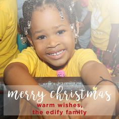 Wishing you a hope-filled Merry Christmas! #edify #merrychristmas
