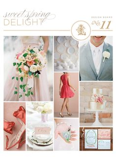 elegant, spring wedding inspiration board