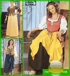 Simplicity 5582 Medieval/Renaissance Faire Peasant Patterns