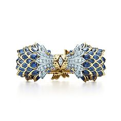 Tiffany & Co. Schlumberger® fish bracelet of diamonds and gemstones.