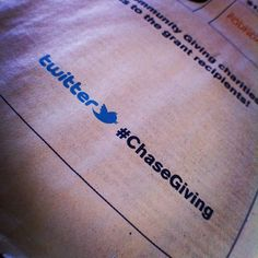 Hashtags in full page newspaper ads! #ChaseGiving