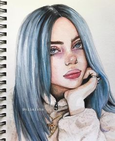Discovered by ♡Meet The Beatles♡. Find images and videos about art and billie on We Heart It - the app to get lost in what you love. Sketches, Art Sketchbook, Art Drawings, Celebrity Drawings, Art, Watercolor Art Face, Portrait Art, Beautiful Art, Billie Eilish