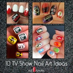 10 TV Show Nail Art Ideas: Inspired by Mad Men, True Blood, Dexter, Game of Thrones, Weeds, Breaking Bad, Walking Dead, Big Bang Theory, South Park and Futurama!
