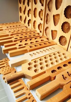Wooden moulds: cakes or soaps...?