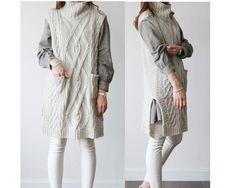 """Unbalance  MN9""  marfil suéter asimétrico de Lie-Ly et Zamong por DaWanda.com"