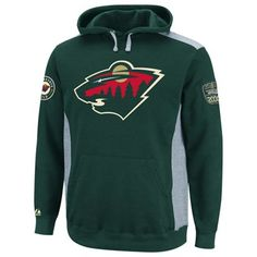 Majestic Minnesota Wild Hat Trick Pullover Hoodie - Green/Ash