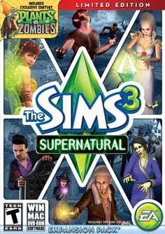 I've started playing The Sims 3 Supernatural Limited Edition. I get to make zombies!