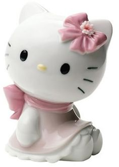 Nao by Lladro Hello Kitty Collectible Figurine, Wearing a pretty pink bow and scalloped dress, Hello Kitty is the essence of cute in this soon-to-be-cherished porcelain figurine from Nao by Lladro. Miss Kitty, Kitty Kitty, Hello Kitty Items, Hello Kitty Collection, Sanrio Characters, Collectible Figurines, Fine Porcelain, Porcelain Doll, Porcelain Jewelry