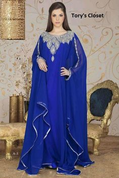 Very Fancy dubai Kaftan/Abaya/jalabiya comes with a por TORYSCLOSET, $109.99