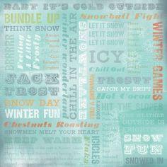 Karen Foster Design - Winter Collection - 12 x 12 Paper - Winter Wonderland Collage at Scrapbook.com