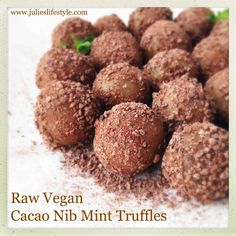 Raw Vegan Desserts, Vegan Treats, Gluten Free Desserts, Vegan Dishes, Raw Food Recipes, Snack Recipes, Snacks, Paleo Dessert, Cacao Nibs