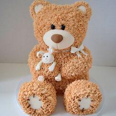 Teddy Bear Cake - 3D Sculpted Cakes | Kyrsten's Sweet Designs