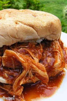 """Zesty Slow Cooker Chicken Barbecue 