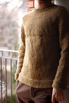 Finally, a man's sweater pattern that doesn't look like it was made by cats.