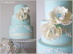 Amazing Tiffany blue cake!!