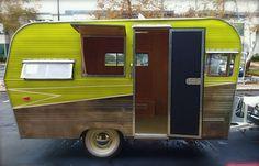 50s Siesta vintage caravan.