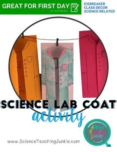 """GREAT FOR BACK TO SCHOOL!This first day of school activity is great for science classrooms. It gives the teacher a chance to get to know the students, the students a chance to get to know each other, and some decor for your classroom!Students are given a science lab coat with some basic """"get to know you"""" questions/info inside."""