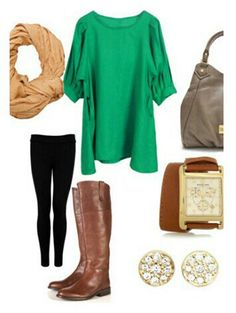 Leggings outfit...and I pretty much have all the items in my closet!