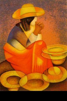 Louis Toffoli art - Vendedora de sombreros