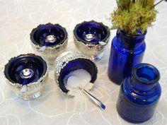 Vintage Raimond Cobalt Blue Salt Cellars by TheEclecticInterior