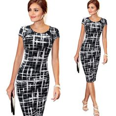 Women's Summer Dresses Work Business Casual Party Straight Dress