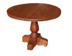 Chunky Round Dining Table, reclaimed teak