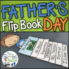 Fathers Day Flip Book Activity by The Barefoot Teacher - Becky Castle Father's Day Activities, Ocean Activities, Fathersday Crafts, Father's Day Printable, Fun Crafts To Do, Fish Crafts, Kids Part, Thing 1, Mother And Father