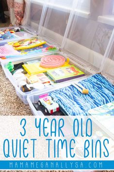The Magic of Quiet Time Bins for 3 Year Olds - MamaMeganAllysa