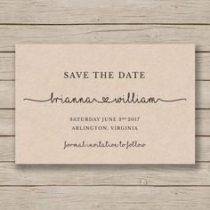 This save the date template is available for instant download as a .docx file for you to edit with your own details in MS Word. 4x6 and 5x7 sizes included. It is shown in the first listing image printed on kraft card for a rustic look. ***The background of the design is transparent - print on kraft for a kraft background, print on white for a white background etc.***  HOW IT WORKS: - Purchase your files and download instantly - Install suggested free fonts (links included) - Use MS Word to…