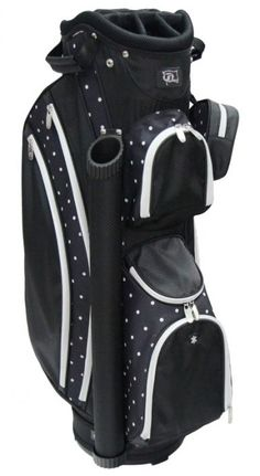 "Lori's Golf Shoppe offers a great selection of women's golf bags to compliment your game! Check out our large selection of golf bags for sale just like this PARADISE (Polk A Dot) RJ Sports Ladies 9"" Deluxe Golf Cart Bag"