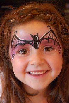 bat girl facepaint little girls - Google Search