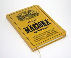 Caderno de receitas com design de embalagem retrô da Maizena.
