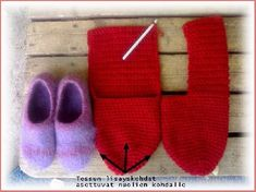 Loom, Slippers, Knit Crochet, Diy And Crafts, Knitting Patterns, Projects To Try, Felt, Socks, Handmade