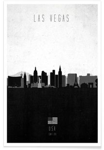 Las Vegas Contemporary Cityscape - Calm The Ham - Premium poster