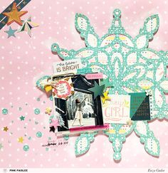 """""""Let your light shine""""... A layout about dreaming big! @pinkpaislee #ppturnthepage #ppohmyheart #scrapbooking #layout"""