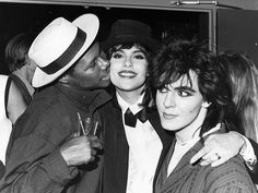 Nick Rhodes, Nile Rodgers and Julie Anne Rhodes.