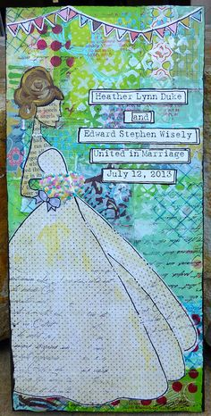 Bridal Mixed Media by @Marija Ivanovska Ivanovska Great wedding gift idea!