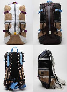 A J.W. Anderson se juntou a Parter Backpacks para criar uma mochila para sua coleção de primavera/verão 2012 com uma pegada bem rústica. Para dar esta cara meio homem das cavernas em uma peça com 'shape' de mochila de skatista a alte...