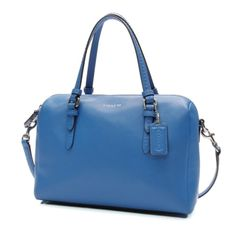Coach Royal Blue Saffiano Leather Purse A classic mini satchel with removable crossbody straps in Royal blue. The purse is in perfect condition. No scuffs or scratches. Dimensions are 10in x 7in x 4.75in No trades, willing to go lower on Ⓜ️ Coach Bags Crossbody Bags