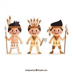 Flat american indians in cartoon style Cartoon Clip, Cartoon Styles, Cartoon Drawings, American Illustration, Character Illustration, Baby Illustration, Festival Holi, Pow Wow Party, Wild One Birthday Party