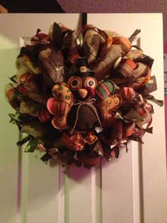 Thanksgiving Wreath on Etsy, $75.00