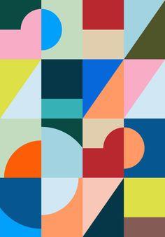 Hvass&Hannibal – Portfolio – Represented by Hugo & Marie, NYC Game Design, Web Design, Design Art, Bauhaus, Abstract City, Geometric Background, Geometric Art, Shape Art, Conceptual Design