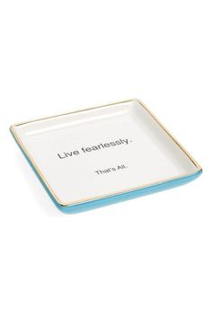That's All 'Live Fearlessly' Ceramic Trinket Tray available at #Nordstrom
