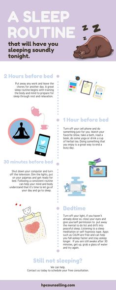 Sleep is a critical factor in mental health and wellness. Having difficulty getting to sleep or staying asleep can make it even more difficult to deal with stress and anxiety. This sleep routine can help you get back on track with your sleep so that you can cope more effectively with other challenges in your life and is a critical first step in managing stress and anxiety.