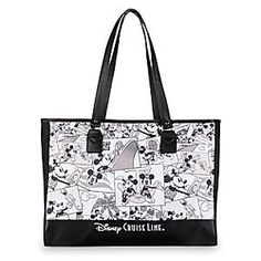 Mickey Mouse Comic Strip Tote Bag - Disney Cruise Line | Disney Store Carry the funny pages wherever you go with Mickey's tote covered in vintage style comic strip art. From a steamboat to Disney Cruise Line, Mickey's come a long way, and with this spacious and sturdy bag, you'll be set for your travels, too.
