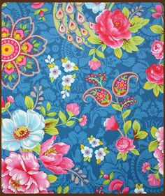 Pip Studio Behang Flowers in Blue a Paradise behangnr. 313054