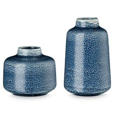 Siena Indigo Vase - Small: These sweet Siena Indigo Vases would look great styled on your shelves or mantle.