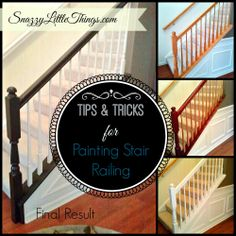 A tutorial on painting your existing stair rails and balusters. Lots of trial and error in this post, with tips that hopefully spare you from making the same mistakes!